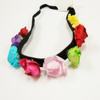 Trendy 9 Flower Headbands w/ Elastic Back .54 each