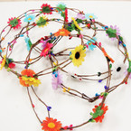 Popular Multi Color Flower  Wire Halo  .58 each