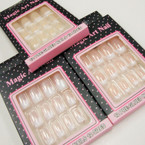 12 Pack Pre Glued Nails French Manicure .54 per set