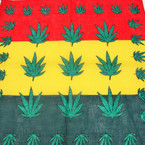 "22"" Square Leaf Rasta Color 100% Cotton Bandana .52 ea"