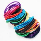 36 Pack Mixed Bright Colors Elastic Ponytailers NO METAL .54 ea set