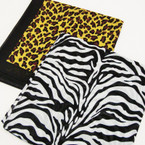 "22"" Square 100% Cotton Bandana w/ Zebra & Leopard Print .52 ea"