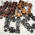 "2.25"" Wood Adinkra Symbol Fashion Earrings .54 ea pair"