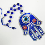 "5"" Blue Metal Hamsa Hanger sold by pc $ 3.00 each"