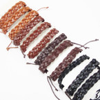 Popular Braid Style Teen Leather Bracelets .54 ea