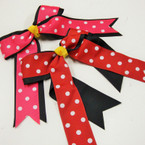 "5"" X 7"" 2 Layer Poka Dot Tail Gator Clip  Bows as shown .54 ea"