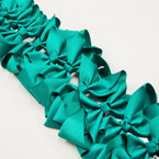 "6"" Emerald Green Color  Gator Clip  Bows as shown .54 ea"