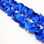 "3.5-4"" All Royal Blue  Gator Clip Fashion Bow .27 ea"
