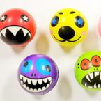 """2.5"""" Wacky Face Relax Stress Balls 12 per pk  .45 ea"""