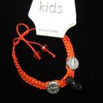 Kid's Size Red Macrame Bracelet w/ San Benito Charms .54 ea