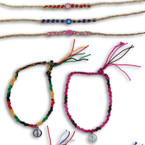 Handmade Wooven Anklets Mixed Styles 12 per pk .29 ea