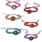 Handmade Macrame Bracelet w/ Mixed Wood Charm 12 per pk .35 ea
