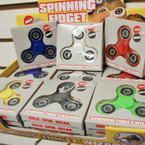 Asst Solid Color Spinning Fidget Wizard 24 per display bx $ 2.50 each