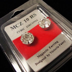 BIG 10MM Clear Stone Magnetic Earrings .58 per pair