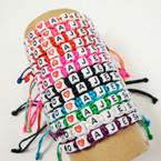 Macrame Bracelet w/ Letter Blocks I Love Jesus Spanish Version .54 ea