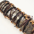 New 3 Line Zodiac Leather Bracelets .54 ea
