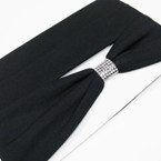 "2 Pk 2.5"" All Black Stretch Headbands as shown .54 per set of 2"