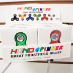 Bright Color Hand Spinners w/ Shiney Disc 12 per display bx $ 2.65 ea