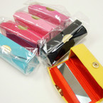 "3.5"" Mixed Color Satin Lipstick Cases w/ Mirror .54 ea"
