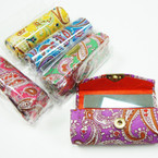"3.5"" Mixed Color Paisley Print  Lipstick Cases w/ Mirror .54 ea"