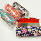 "3.5"" Mixed Color Floral  Print  Lipstick Cases w/ Mirror .54 ea"