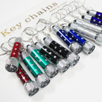 5 LED Light Pocket Flashlight w/ Key Chain Asst Colors  12 per pk .54 each