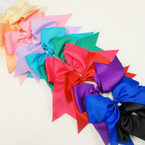 "12 Color 6"" X 8"" Cheer Tail Bows on Gator Clip .54 ea"