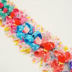 """SO CUTE  5"""" Poka Dot Gator Clip Fashion Bows w/ Flower  .56 ea"""