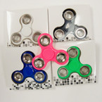Popular Hand Spinners Asst Colors w/ Silver Rings 12 per pk $ 1.75 ea