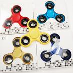 Popular Hand Spinners Asst Colors w/ Blk Rings 12 per pk $ 1.75 ea