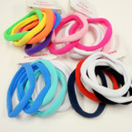 6 Pk Soft & Stretchy Ponytailers Mixed Colors .54 per pack