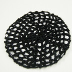 All Black Crochet Hair Nets 12 per pk .54 each