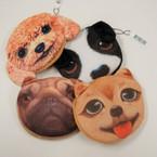 """4"""" Mixed Style Velveteen Dog Face  Coin Purse .54 ea"""
