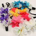 Popular Multi Color Flower Headbands .54 each