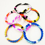 Silicone Loka Look Bracelet Asst Colors Marble Style  .60 ea