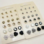 Value Pack 12 Pair Asst Earrings .50 per set