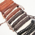Popular Braided Teen  Leather Bracelets Mixed Colors .54 ea
