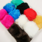 "4"" Faux Fur Fashion Keychain/Purse Charm Mixed Colors .66 each"