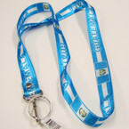 "36"" All Blue & White Guatemala Lanyard w/ Keychain Holder .54 ea"