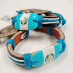 Guatemala Flag Leather Bracelets .50 each