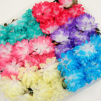 6 Asst Gradiant Color Flower Headbands w/ Elastic Back  .54 each