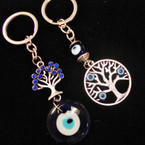 2 Style Tree of Life Keychains w/ Eye Beads .54 each