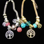 Pandora Style Gold & Silver Bracelets w/ Tree of Life Charms  .54 each