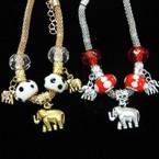 Pandora Style Gold & Silver Bracelets w/ Elephant Charms  .54 each