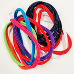 6 Pk Soft & Stretchy Headbands  Mixed Colors w. Silver  .54 per pack