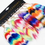 "7"" Long Faux Fur Multi Color Key Chains .58 each"