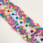 "Cute Kid's 5"" Gator Clip Bow w/ Multi Color Pom Poms .54 each"