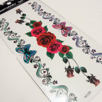 "3.5"" X 7.5"" 3D Fashion Tattoo's .50 per card"