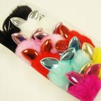 """3"""" Faux Fur Keychain w/ Metallic Bunny Ears  12 per pk @ .60 each"""