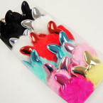 "3"" Faux Fur Keychain w/ Metallic Puff Butterfly  12 per pk @ .60 each"